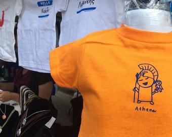 Athena or Zeus Greek Goddess/God INFANT/BABY-TODDLER Greek baby gift