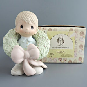 Retired Figurine Vintage Precious Moments Porcelain Figurine \u201cI/'m Following Jesus