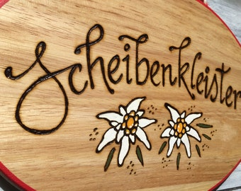 German Sign Scheibenkleister Gift For Friend Birthday Gifts Funny Bavarian Decorations