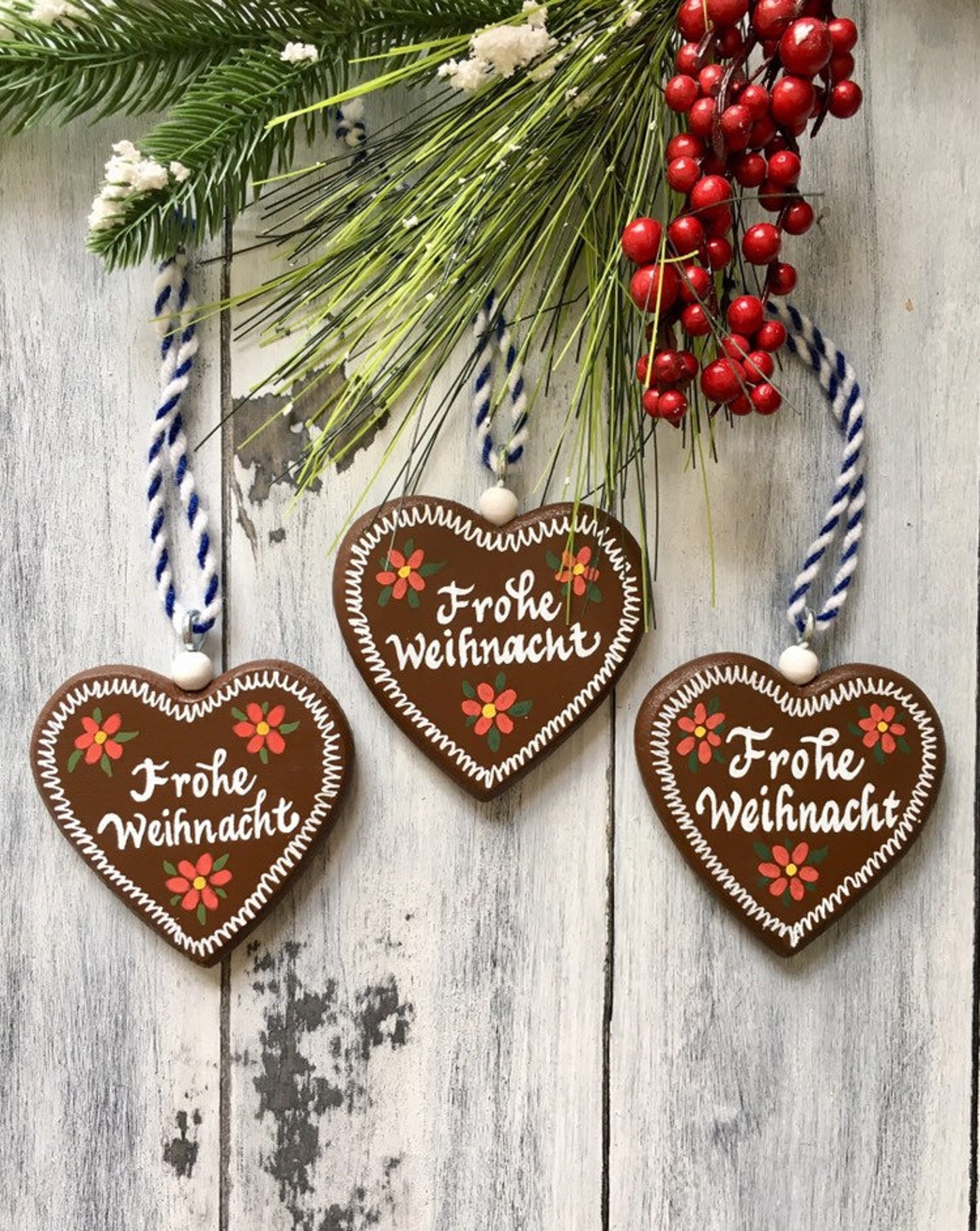 German Christmas Ornaments, German Ornaments, Frohe Weihnacht, German Gifts, Gingerbread Ornaments, Lebkuchen Ornament, Christmas Decoration