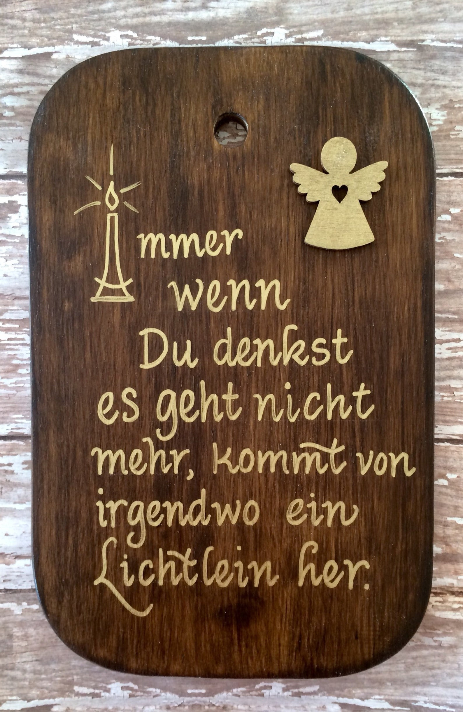 Comforting Gift, German Sign, inspirational Sign