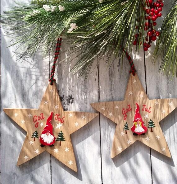 Swedish Christmas Decorations.Gnome Ornaments God Jul Tomte Swedish Decor Swedish Christmas 2 Christmas Gnome Ornament Swedish Christmas Ornaments Christmas