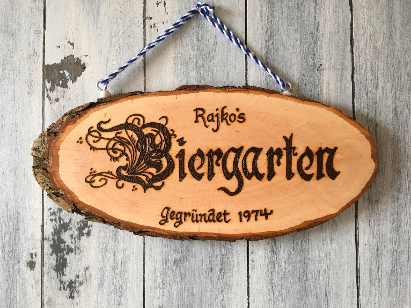 Personalized Biergarten Sign
