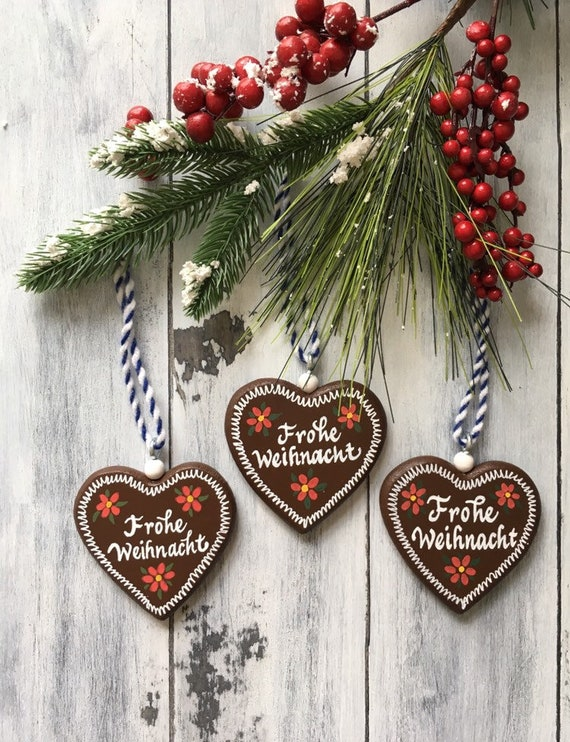 German Christmas Ornaments German Ornaments Frohe Weihnacht German Gifts Gingerbread Ornaments Lebkuchen Ornament Christmas Decoration