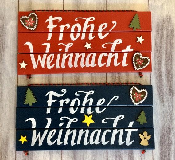 Merry Christmas In German.German Christmas German Sign German Gifts German Decor Christmas Sign Christmas Decor Frohe Weihnacht Bavarian Decorations