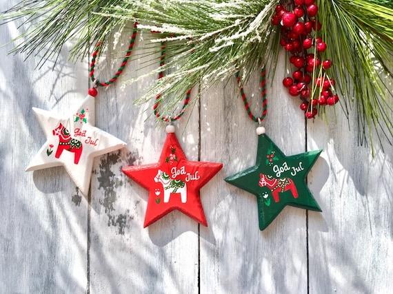 Swedish Christmas Decorations.Dala Horse Swedish Christmas Ornaments Sweden Christmas Decorations Dala Horse Ornament Scandinavian Christmas Sweden Decoration