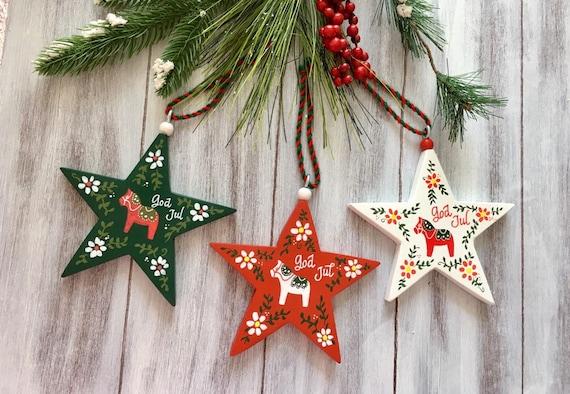 Swedish Christmas Decorations.Swedish Christmas Ornaments Sweden Christmas Decorations Dala Horse Ornament Swedish Decor Scandinavian Christmas Decorations