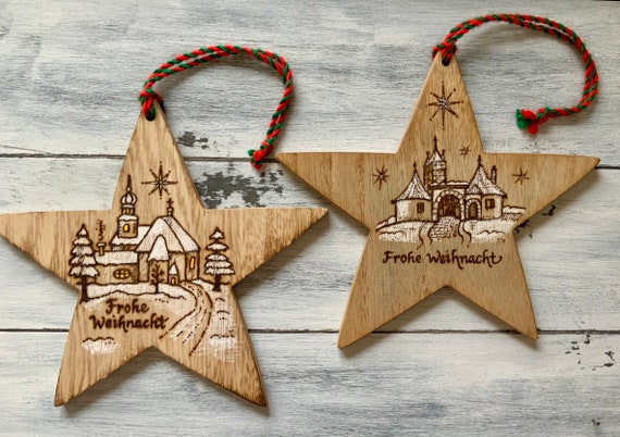 German Christmas Gifts.German Christmas Ornaments Set Of 2 Rothenburg Ob Der Tauber German Gifts