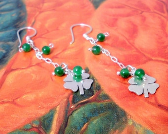 I am a Lucky Girl Saint Patricks day earrings