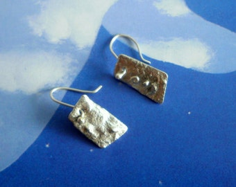 Playing with Fire small trapezoidal earrings