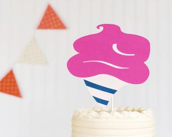 cotton candy  / smash cake / cake topper / first birthday / baby shower / circus party / county fair / sweets / sleepover