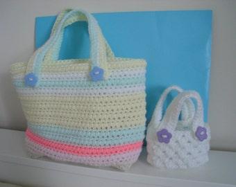 My Easy Crochet Bag PDF pattern and Free Breast Cancer Awareness Ribbon Basket PDF pattern