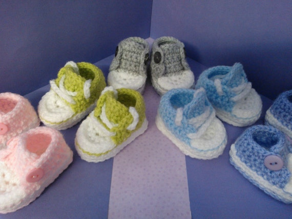 How To Crochet My Easy Converse Style Slippers Patterns Etsy