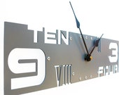 Gray Clock With Numbers, Unusual Clocks, Unusual Laser Cut Wall Clock, Rectangle Outnumbered IV