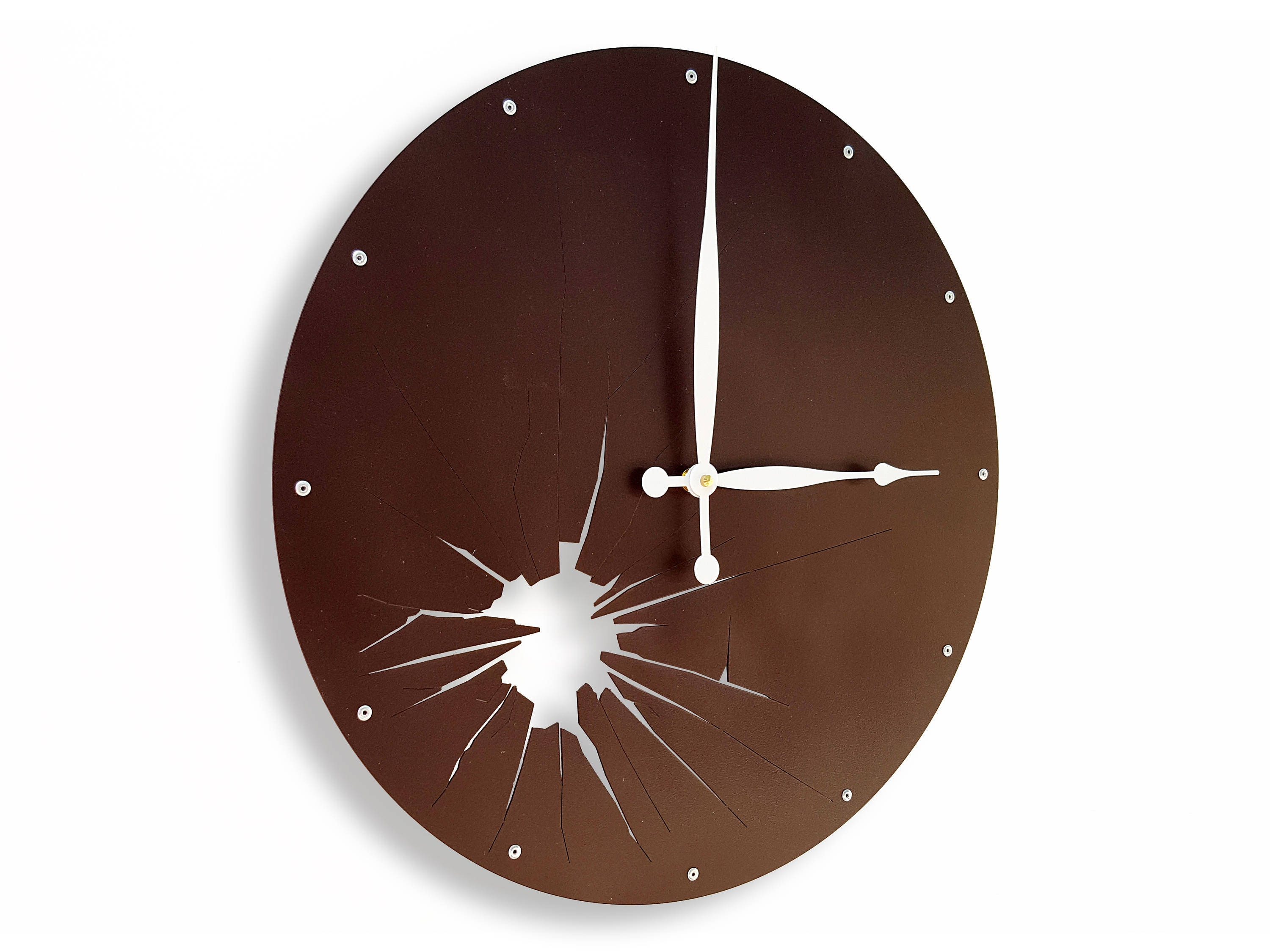 Large Wall Clocks In Brown Retro Wall Clock For Kitchen