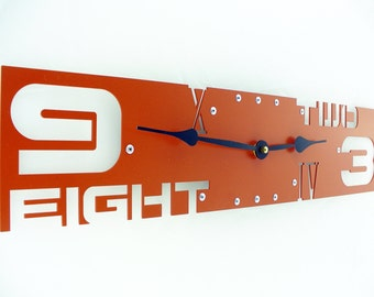 Outnumbered III, Large Wall Clock, Metal, Silent, Family, Huge, Steampunk, Big, Custom, With Numbers, Personalized, Ticking, Cinnamon