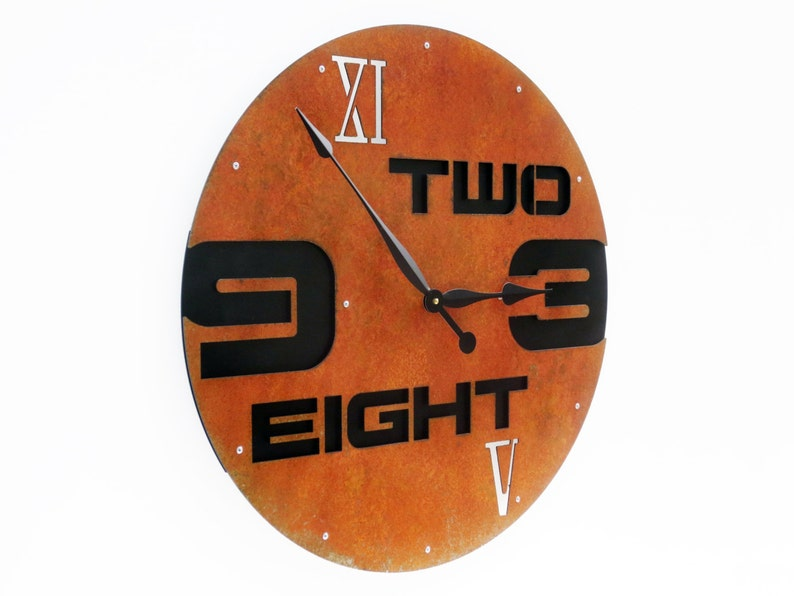 Extra Large Wall Clock with Numbers / Oversize Metal Art / Big Giant Home Decor for Kitchen Living Room Dining Family Office / Outnumbered I