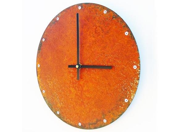 Horloge murale rustique cercle décor de bureau horloge etsy