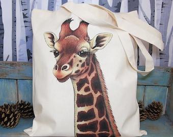 Rothschild's Giraffe Eco Tote Bag ~ Organic & Fairtrade Cotton