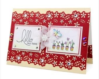 Hello dear friend - Friendship card [FR-2]