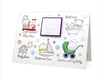 It's a Girl - Baby Girl card [BB-5]