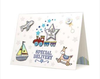A Star is born - Baby boy card [BB-2]