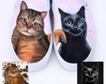 Benutzerdefinierte bemaltE Vans Schuhe Katzen von Hand | Etsy