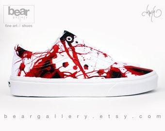 Blood splatter vans | Etsy