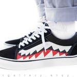Custom Painted Bape Vans Shoes - Custom Bape Old Skools
