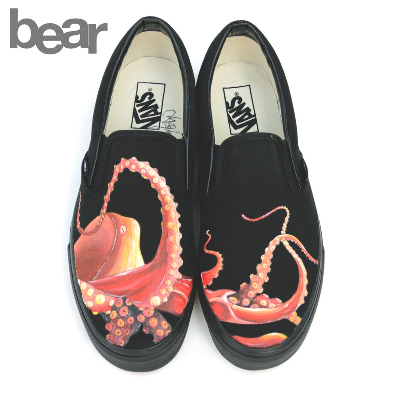 3da9740c306 Custom Painted Octopus Vans Shoes Hand Painted Octopus Shoes