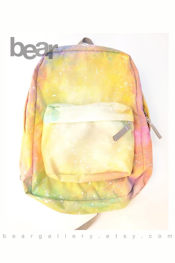 4134c37865c5 Custom Painted Pastel JanSport Backpack Hand Painted Pastel