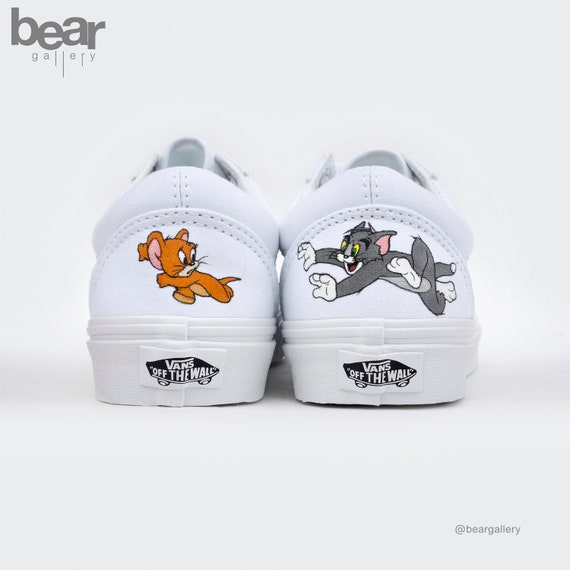 Custom Painted Cartoon Character Vans Shoes Hand Painted   Etsy