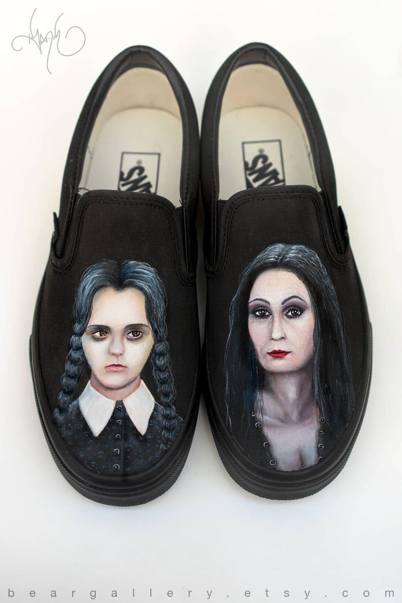 6d2a01446fdb5 Custom Painted Movie Portrait Vans Shoes - Hand Painted Portraits - Movie  Portrait Vans