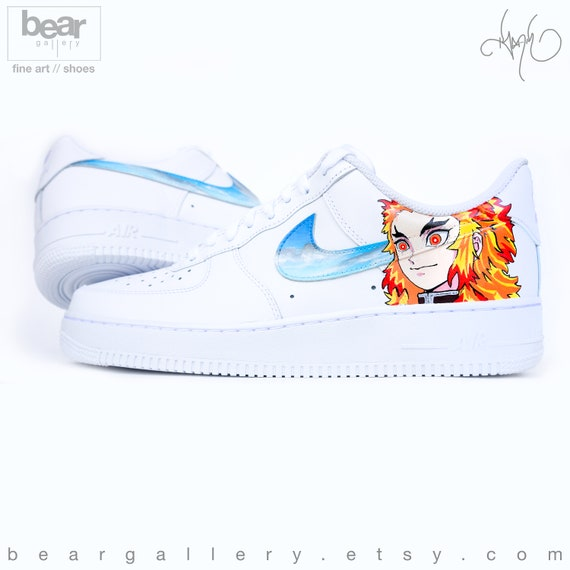 Custom Nike Air Force 1 Hand Painted Anime Nike Shoes Etsy