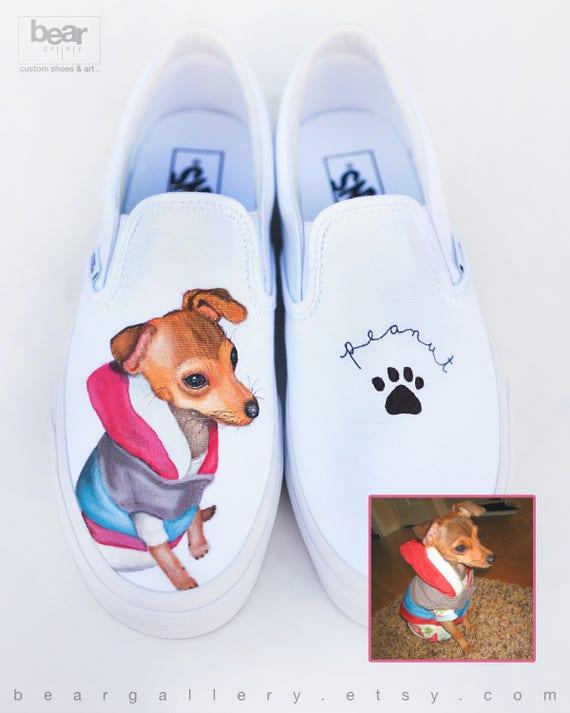 Custom Painted Pet Portrait Vans Shoes