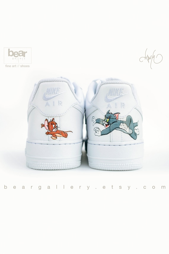 46d86172d6850 Custom Nike Air Force 1 - Hand Painted Nike Shoes - Cartoon Nike's