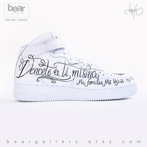 Custom Nike Air Force 1 Hand Painted Nike Shoes Anuel AA and