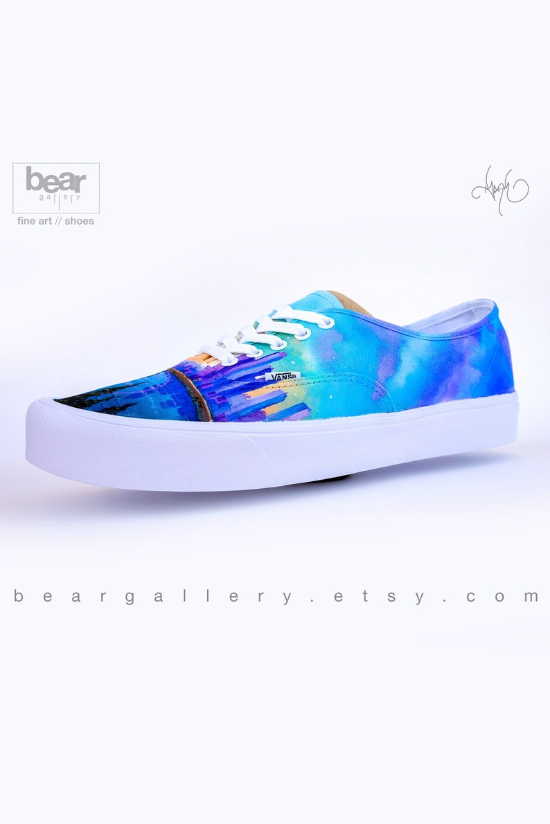 0afe38135bfd Custom Painted LA Vans Shoes Hand Painted Los Angeles City