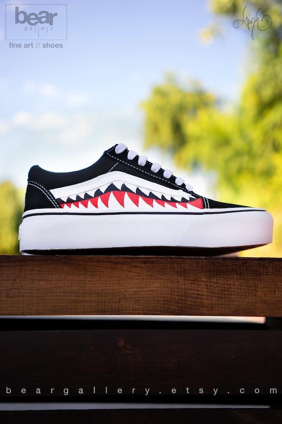 d55e1fd078e602 Custom Platform Bape Vans Shoes with Initials Platform Bape