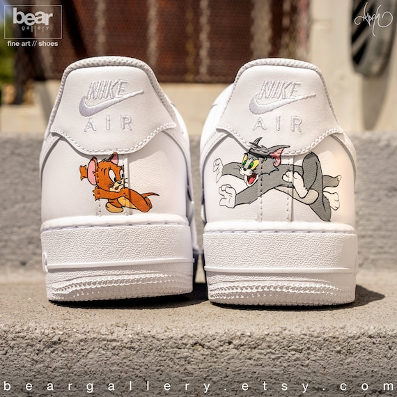 Custom Nike Air Force 1 Hand Painted Nike Shoes Cartoon Etsy