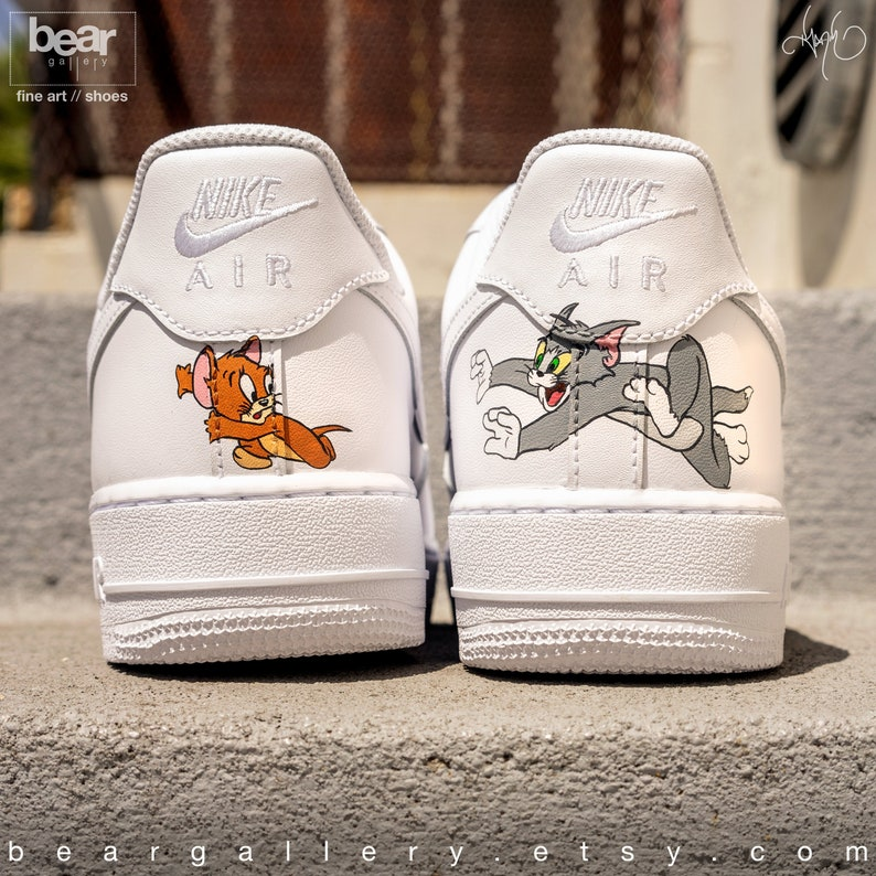 sports shoes 5988a 7f49b Custom Nike Air Force 1 Hand Painted Nike Shoes Cartoon   Etsy