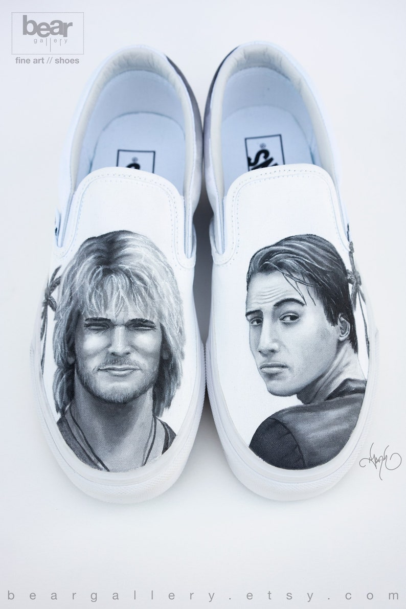 3a864e3f435e1 Custom Painted Portrait Vans Shoes - Hand Painted Movie Characters