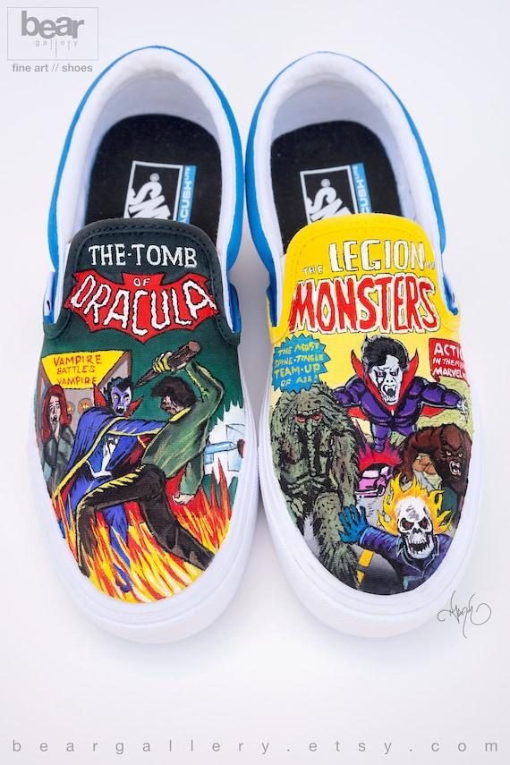 Custom Painted Comic Book Vans Shoes