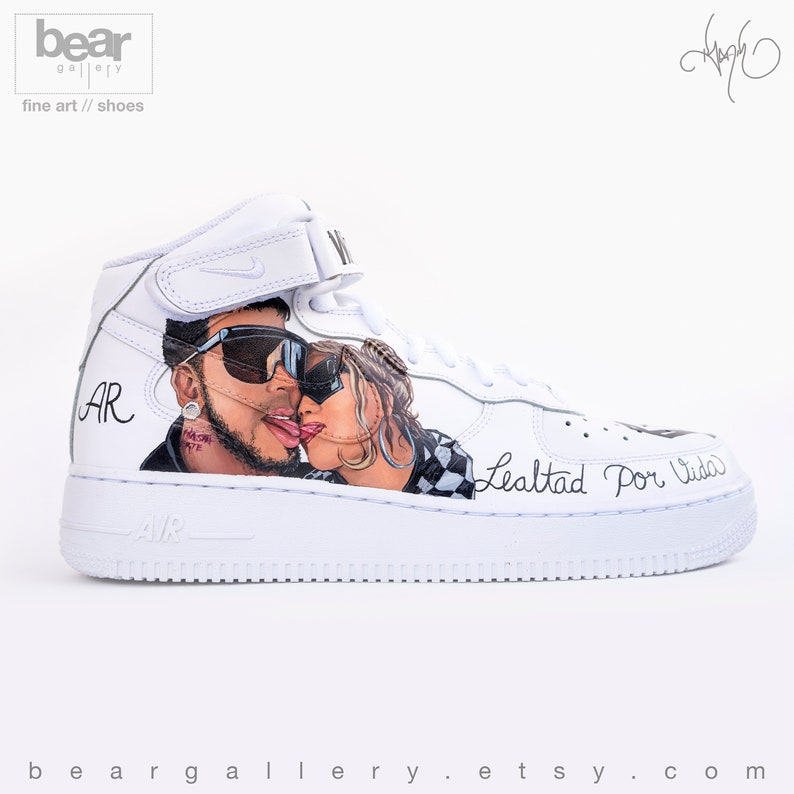 Karol Force And Shoes Painted Anuel Portraits Nike G Aa 1 Custom Tattoos Air Hand gbY7vf6y