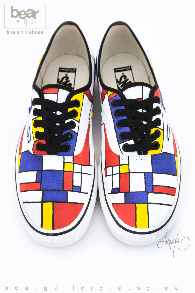 Peint Chaussures Personnalisé VansEtsy Mondrian Mondrian RL435Aj