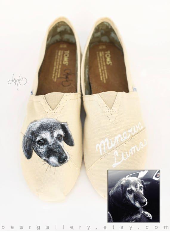 Benutzerdefinierte bemalt Pet Portrait Vans Schuhe von Hand bemalt Golden Retriever Schuhe Hund Portrait benutzerdefinierte Hundeschuhe