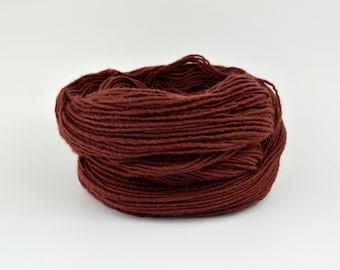 Rusty Brown Weaving Yarn Terracotta, Navajo Weaving Yarn, Wool Yarn, 4oz skein