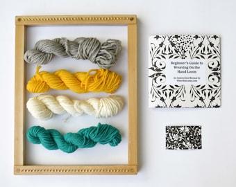 Beginner Weaving Loom Kit with Frame Loom - Natural Finish Weaving Loom