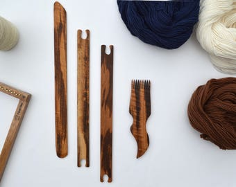 Weaving Tool Set for Medium Looms - Ethically Produced Weaving Tools - Heirloom Quality
