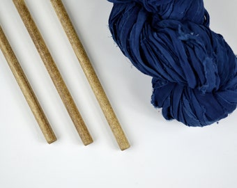 """Large Dowels for Weavings and Other Fiber Wall Art - Oak Finish - Set of 3 - 15"""" (38cm)"""